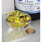 Swanson EFAs MultiOmega 3-6-9 Omega 3-6-9  рыбий жир + масла льняное и огуречной травы, 220 ЖК, фото 2