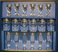 Подарочный набор бокалов (18 предметов) Bohemia Клаудия 40149/43081/18 ЗОЛОТО
