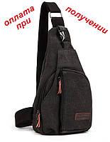 Чоловіча спортивна тканинна сумка барсетка рюкзак бананка Vog Star