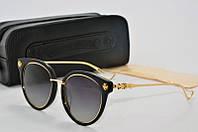 Солнцезащитные очки круглые Chrome Hearts черные, фото 1