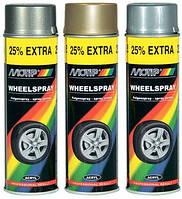 Краска акриловая для дисков Motip 500 мл аэрозоль Серебристая