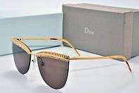 Солнцезащитные очки Dior Sun черные со стразами