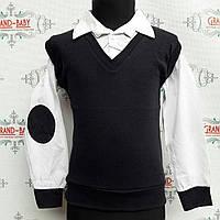 Детская нарядная котоновая  рубашка обманка  Fabisa .Турция.