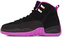 """Женские кроссовки Nike Air Jordan 12 GS """"Hyper Violet"""" 510815-018, Найк Аир Джордан 12"""