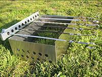 Устройство для вращения шампуров с мангалом и шампурами