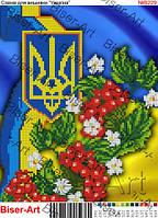 """Схема для часткової вишивки бісером """"Україна"""" БА-229в"""