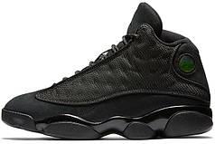 Мужские кроссовки Nike Air Jordan 13 Black Cat 414571-011, Найк Аир Джордан 13