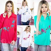 Модная женская рубашка с вышивкой норма / Украина / рубашка
