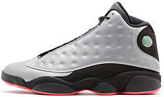 Мужские баскетбольные кроссовки Air Jordan 13 Reflective Silver