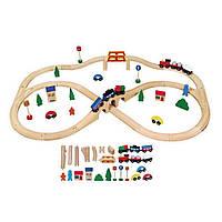 """Игрушка """"Железная дорога"""" (49 деталей) (56304), Viga Toys"""