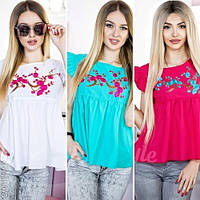 Модная женская блузка с вышивкой / Украина / рубашка