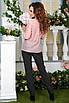 Легкая Блузка Ева пудра, фото 4