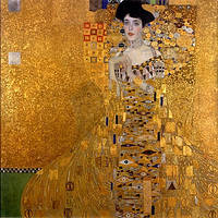 """Картина по номерам 40х50см, набор состоит из холста с контуром """"Густав Климт """"Золотая Адель"""", акриловых красок и кисточек - 3 шт."""