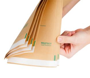Крафт пакеты МЕДТЕСТ для паровой, воздушной, этиленоксидной стерилизации 100 х 200, 100 шт