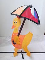 Ветрянная вертушка-утенок с зонтом