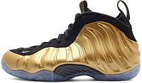 Мужские баскетбольные кроссовки Nike Air Foamposite One Metallic Gold, найк