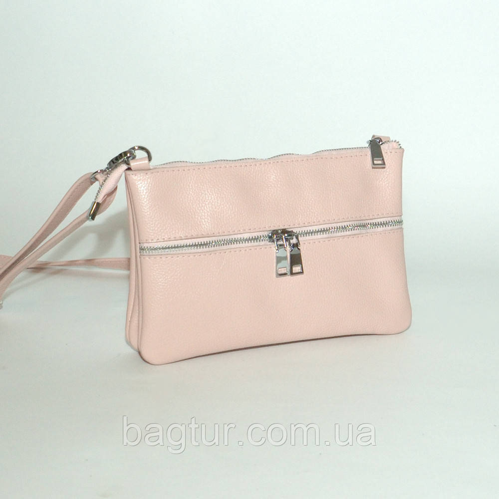 Кожаная женская сумочка 28 пудра флотар 01280113