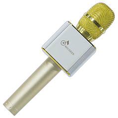 Универсальный Микрофон Q9 золото для записи голоса Skype Viber телефона смартфона планшета android кардиоид