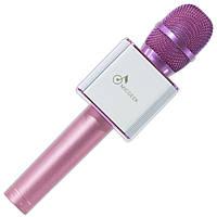 Универсальный микрофон Q9 розовый для телефона смартфона планшета android кардиоид записи голоса Skype Viber