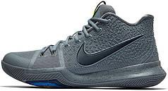 Мужские кроссовки Nike Kyrie 3 Cool Grey Anthracite 852395 001, Найк Карие