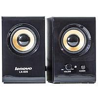 Музыкальные колонки LENOVO LX608 черные для компьютера ноутбука смартфона jack 3.5 настольные универсальные