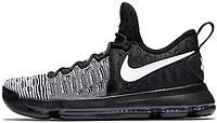 Мужские баскетбольные кроссовки Nike Zoom KD 9 Black White, найк