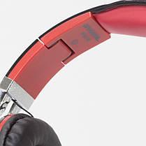 Универсальная гарнитура INGEL IP878 черно-красная для смартфона компьютера с съемным кабелем микрофоном, фото 3