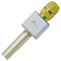 Портативный микрофон Micgeek Q9 золотой многофункциональный для караоке музыки телефона смартфона android ios