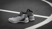 Мужские кроссовки Under Armour 3 Grey Matter Steel Aluminum Black 1269279-035,  Андер Армор 3, фото 2