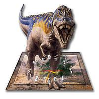 Часы настенные фигурные 30*31 см - Тиранозавр 3D фотопечать