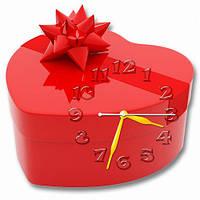 Часы настенные фигурные 30*30 см - От всего сердца 3D фотопечать