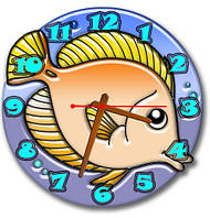 Часы настенные фигурные 30*30 см - Рыбка 3D фотопечать