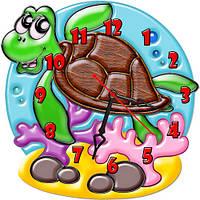 Часы настенные фигурные 30*30 см - Морская черепаха 3D фотопечать