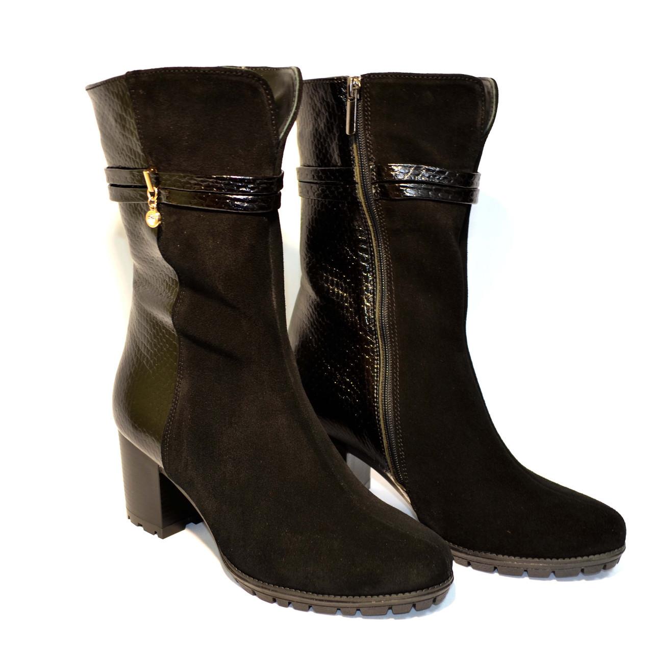 """Ботинки женские демисезонные на устойчивом каблуке в классическом стиле.ТМ """"Maestro"""""""