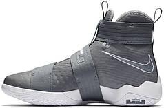 Мужские кроссовки Nike LeBron Zoom Soldier 10 Cool Grey 844374-002, Найк Леброн