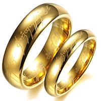 Парные кольца для помолвки позолоченные из карбида вольфрама