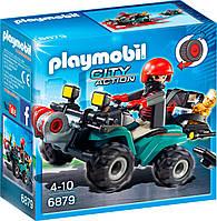 Игровой набор Грабитель с добычей на квадроцикле, Playmobil