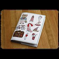 """Обложка для паспорта """"Кот-путешественник"""" + блокнотик"""