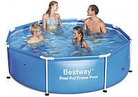 Круглый каркасный бассейн BestWay 56431 244х61см