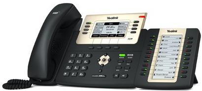 IP-телефон Yelink SIP-T27P с консолью расширения