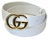 Шикарный белый ремень в стиле Gucci