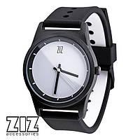 Часы наручные 6 секунд White черный силиконовый ремешок