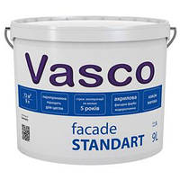 Краска акриловая фасадная краска Vasco Facade Standart (Васко Фасад Стандарт) 9 л