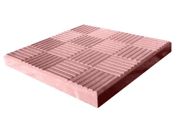 """Тротуарная плитка LAND BRICK """"Шоколадка"""" 300х300х30 мм красная"""