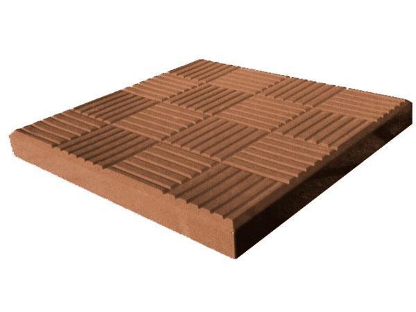 "Тротуарная плитка LAND BRICK ""Шоколадка"" 300х300х30 мм коричневая"