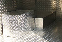 Лист нж рифленый AISI 304,1,0 (1,0х2,0) BA+PVC