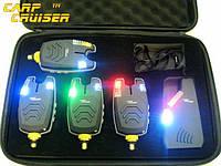 Набор Сигнализаторов Поклевки CarpCRUISER  FA210-4 (4+1) с беспроводным радио пейджером продажа в Украине