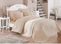 Красивый комплект для спальни - однотонное покрывало и набор постельного белья от Cotton Box