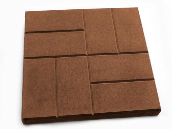 "Тротуарная плитка LAND BRICK ""Паркет"" 400х400х50 мм коричневая"