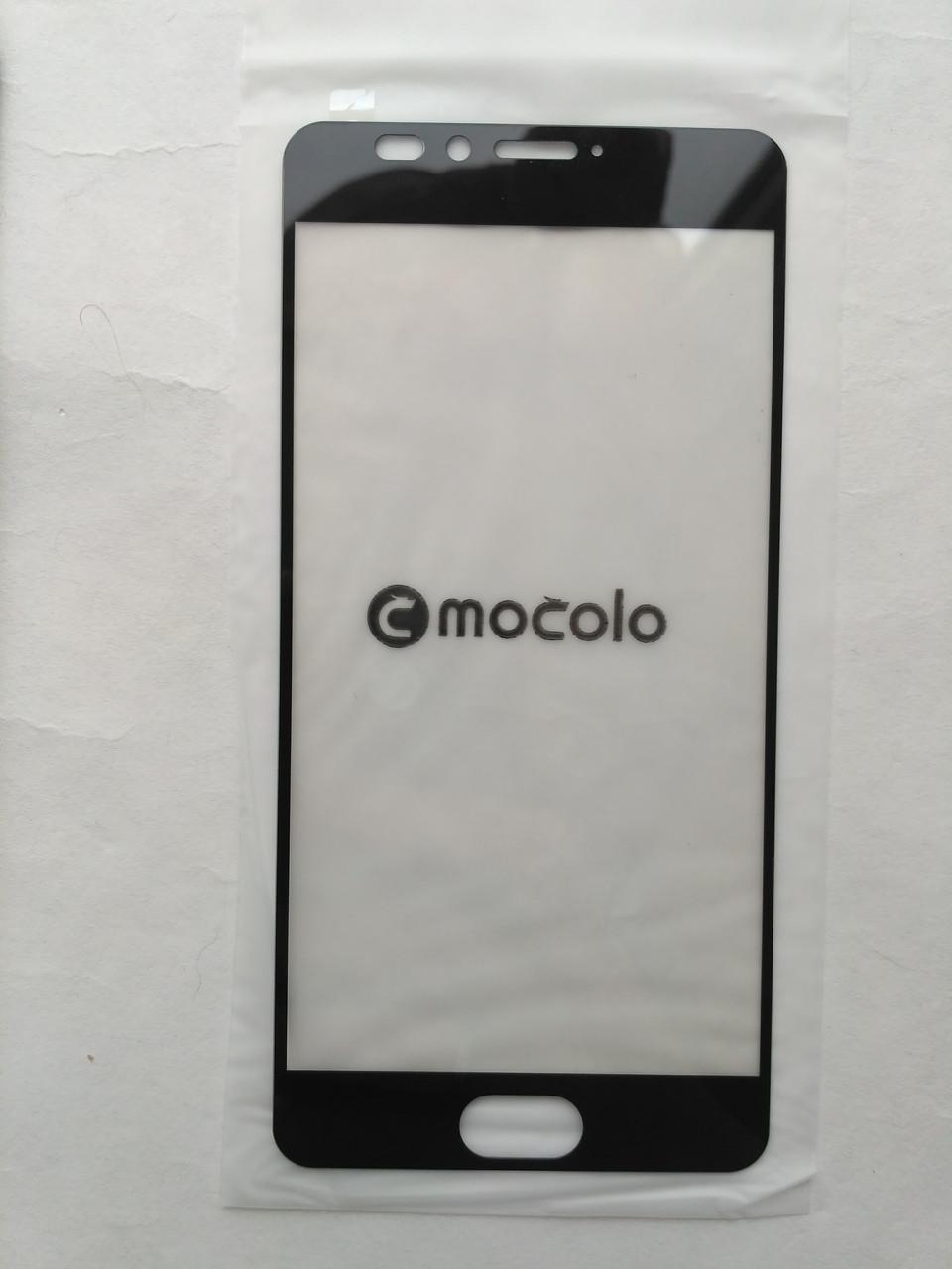 Защитное стекло черное Mocolo для Meizu M5s